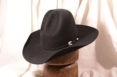 f76682707a6c1 Stetson 10X Classic Champion Style Black Montana Pinch Western Size 7