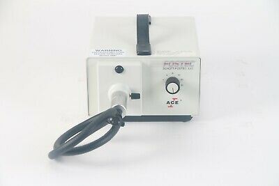 Schott-fostec 20500 Ace Fiber-optic Light Source Illuminator- No Bulb