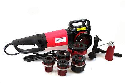Hd 2000w 12 - 2 Portable Electric Pipe Threader W6 Dies Threading Machine
