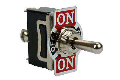 Heavy Duty 20a 125v Toggle Switch On-off-on Spdt 3 Terminal Momentary 1 Side