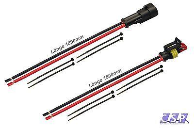 AMP Superseal Set Steckverbinder 2-pol. H07VK 1,50² 1500mm Kabel Elektrik Sensor