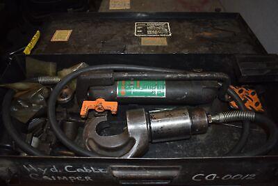 Burndy Y44b Y44bh-2 Hypress Hydraulic Crimping Tool Kit Dies Y8fp Foot Pump