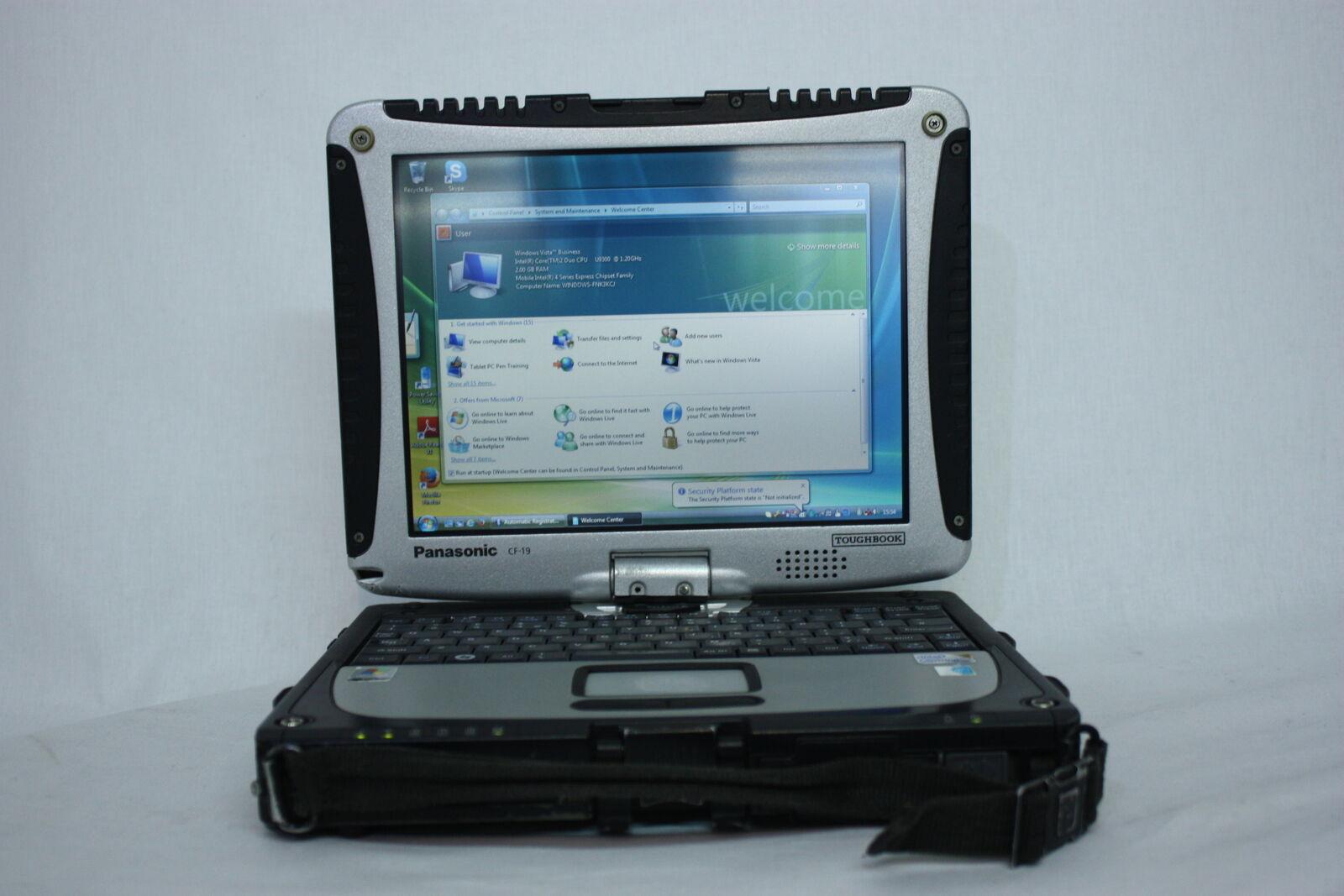 Panasonic Toughbook CF-19 MK3 250GB Windows Vista Car Auto Diagnostic NO STYLUS