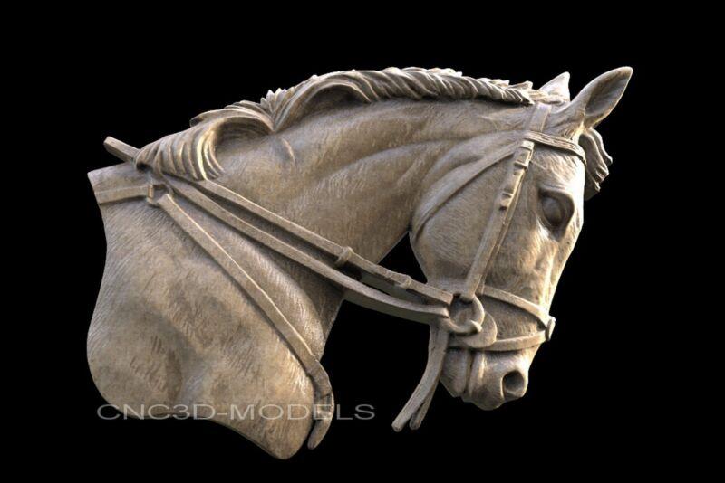 3D Model STL for CNC Router Engraver Carving Relief Artcam Aspire Horse 107