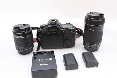 Canon EOS 70D With 18-55mm And 55-250mm Lenses DSLR Camera