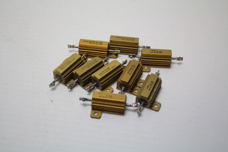 Dale RH-25 25W 50 Ohm  1% Power Resistor ( lot of 9 ) Used