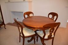 Reproduction mahogany pedestal dining table and chairs Camden Camden Area Preview