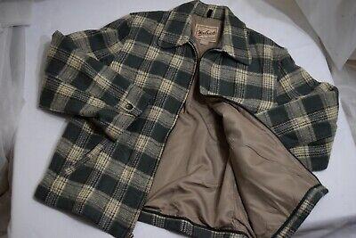 Vintage Woolrich Women Wool Blend Plaid Zip Up Blanket Barn Jacket Coat USA M Wool Women Jacket