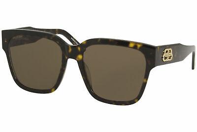 Balenciaga Everyday BB0056S 002 Sunglasses Women's Havana/Brown Lenses 55mm