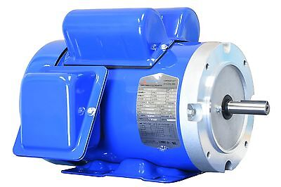 1.5 hp electric motor 56c single 1 phase tefc 115/230 volt 3600 rpm f56c1.5s2c