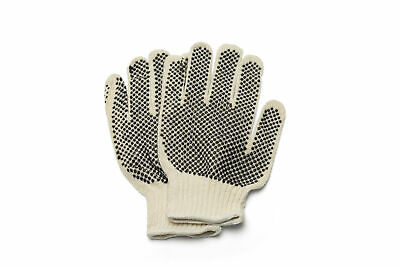 Black Double Dot Work Gloves Industrial Grade 24 Pairs - 2 Dozen Mens Size