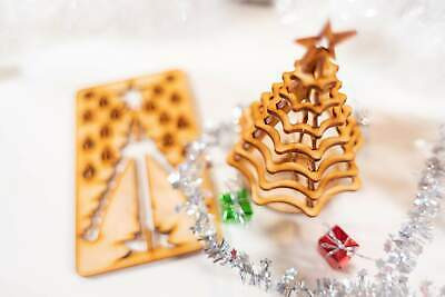 Christmas Tree Kit. Miniature Wooden desktop tree. 3D puzzle for the home or off ()