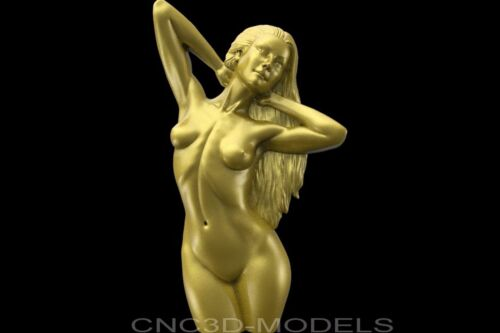 3D Model STL for CNC Router Engraver Carving Artcam Aspire Women Girl Naked 8606