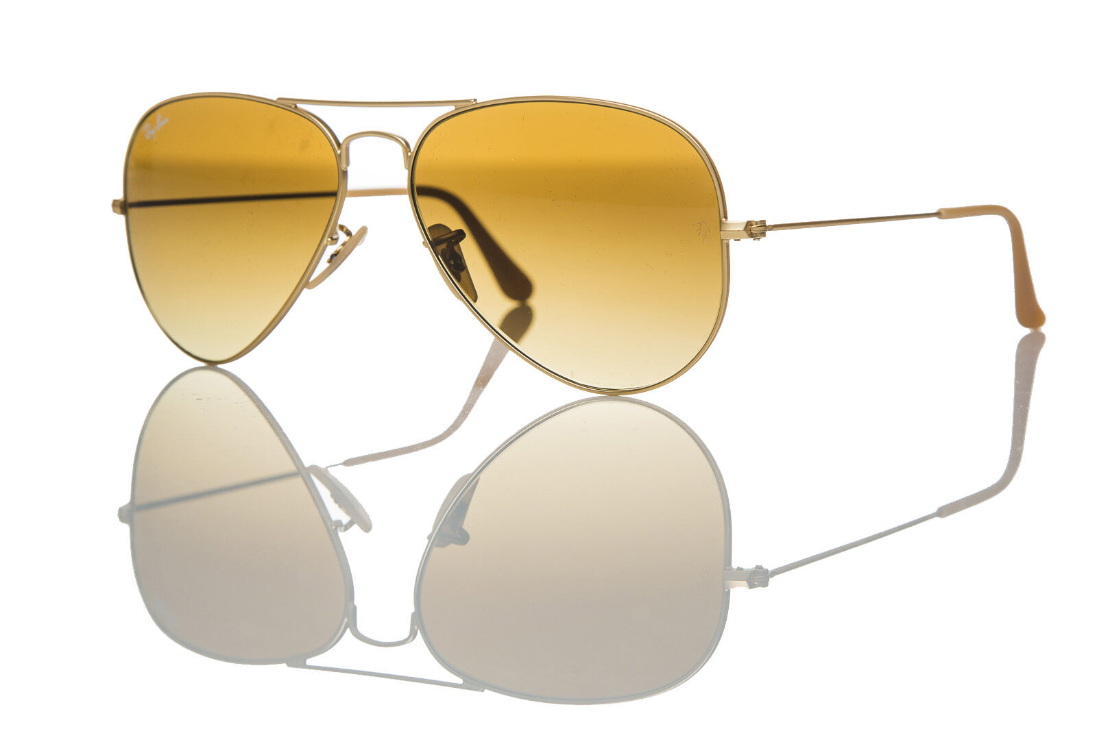 e782ad09cd1 Details about Authentic Ray-Ban Aviator Sunglasses RB 3025 112 85 Matte  Gold Brown Shaded 58mm