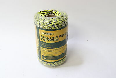 Farmily Fapw1113 Electric Fence Polywire Yellow And Black 200m 656 Ft.