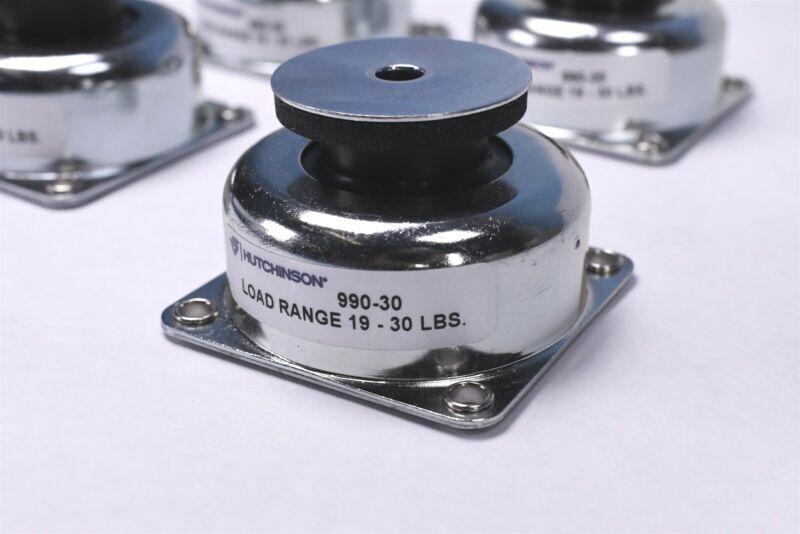 (4) Hutchinson Aerospace 990-30 Anti Vibration Isolator Shock Mounts 72-120 Lbs