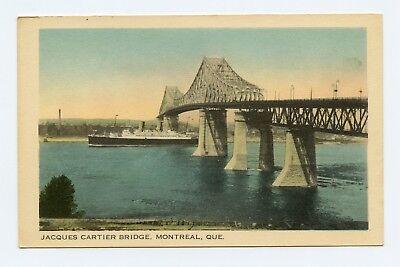 Jacques Cartier Bridge  Montreal  Quebec  Canada Color Postcard
