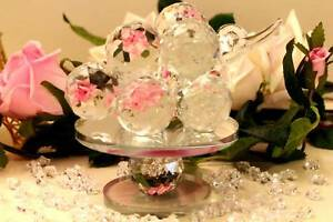 Spinning crystal grapes centrepiece 14.5cm