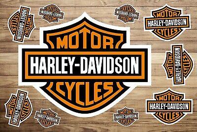 Harley Davidson Vinyl Decal 12 Colours Bike Car Wall Window Sticker 100x100