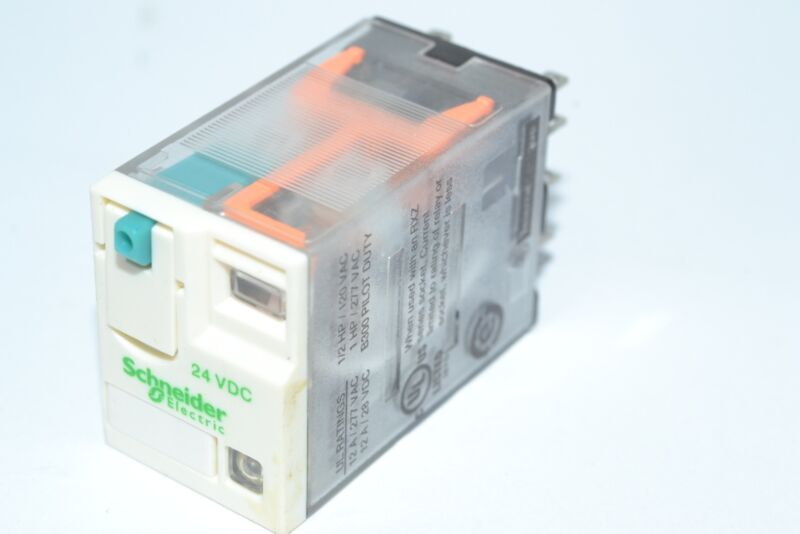 NEW Schneider Electric RXM2AB2BD Power Relay, DPDT, 24 VDC, 12 A, Zelio RXM Seri