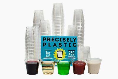 250 Shot Glasses: Premium 1oz Clear Plastic Disposable Cups