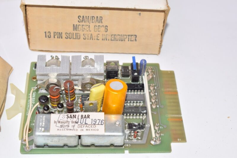 NEW Vintage SAN/BAR Model: 6606 18 Pin Solid State Interrupter