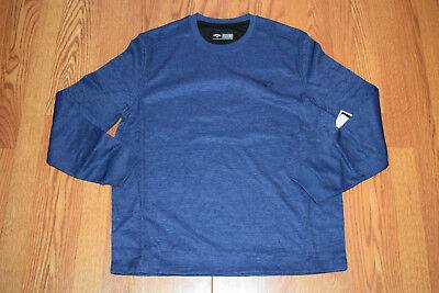 NWT Mens CALLAWAY Royal Blue Crew Neck Opti-Shield L/S Fleece Lined Shirt Sz -