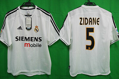 7d2f704cccd4b 2003-2004 Real Madrid Jersey Shirt Camiseta Home SIEMENS mobile Zidane #5 M  BNWT