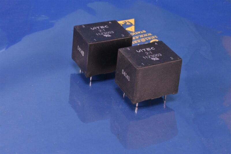 2 Vitec Trigate Pulse Transformers 1 mH 10 Ohms DCR P/N: 11Z3003