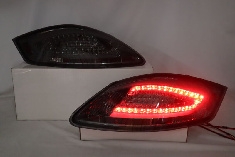 Smoke LED Tube Tail Lights Lamps For 2005-2008 Porsche Boxster 987 06-08 Cayman