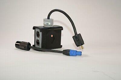 Rubber Quad Box Compatible Wneutrik Powercon Power Distribution Wtail Adapt.