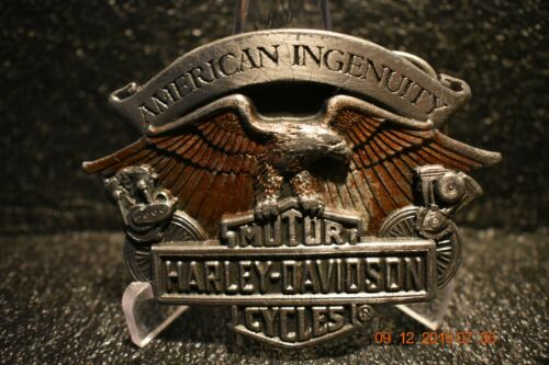 Harley Davidson 1995 Belt Buckle American Ingenuity Eagle Engines U.S.A.