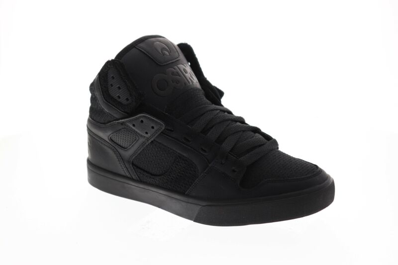 Osiris The Clone 1322 2667 Mens Black Leather Surf High Top Skate Sneakers Shoes