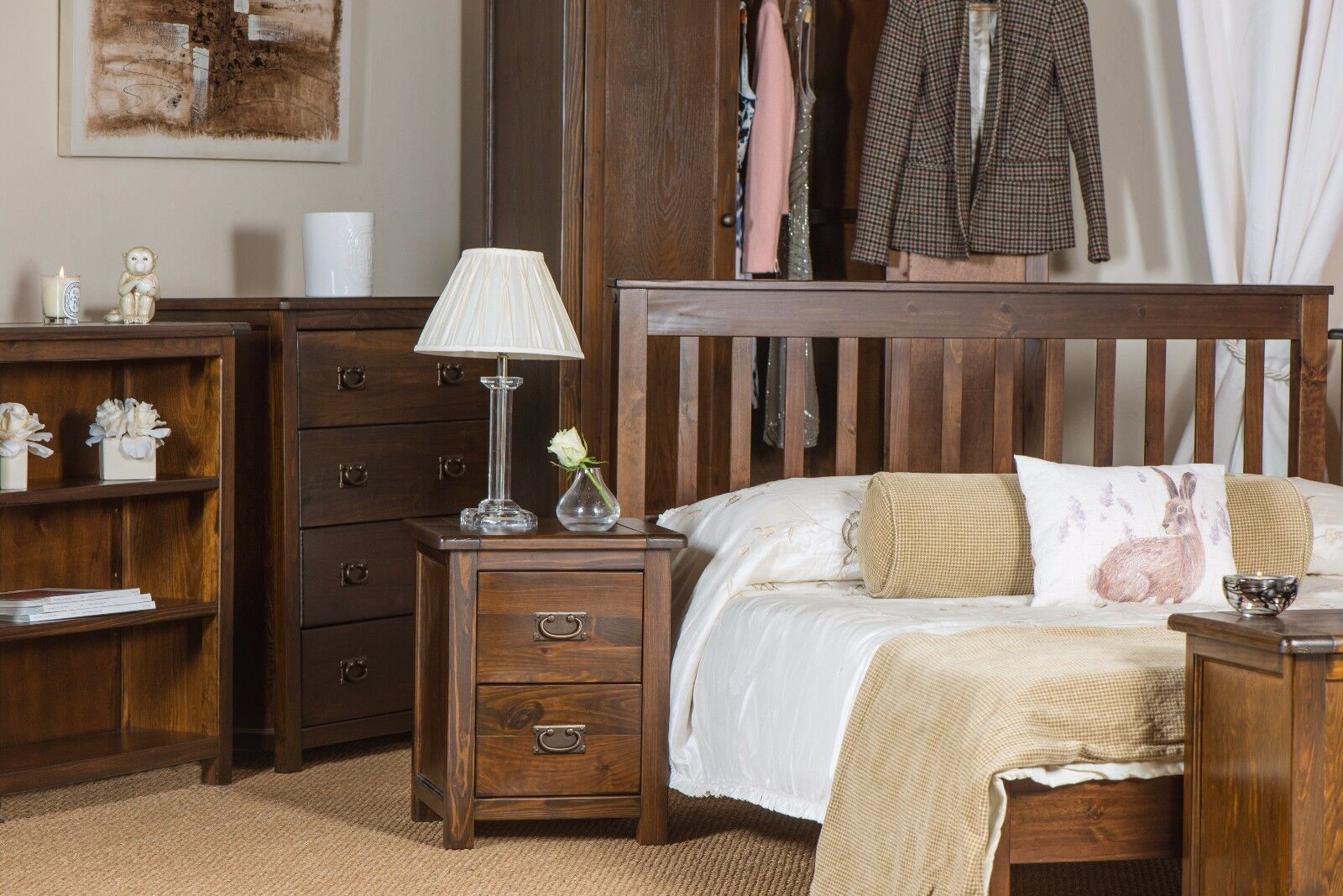 Bed furniture with drawers - Chest Of Drawers Dark Wood Baltia 4 Drawer Chest Solid Wood Bedroom Furniture
