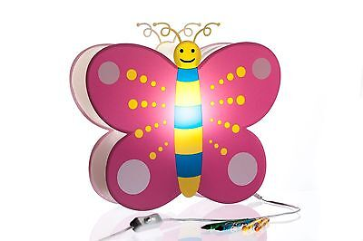 Nursery Lamp & Kid's Room Light - Colorful LED Decorative Lamp - Butterfly Lamp