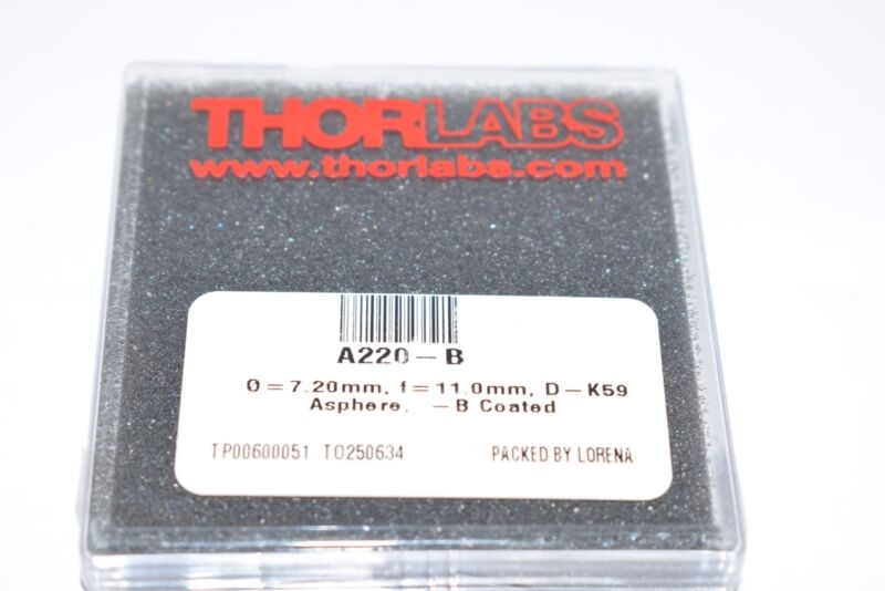 NEW THORLABS A220-B - f = 11.0 mm Rochester Aspheric Lens Coated