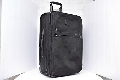 Tumi Black Expandable Carry On Rolling Bag 22922DH 2 Wheel Luggage upright 22