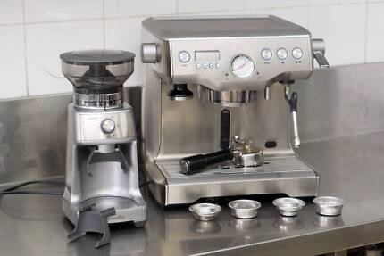 Breville Dual Boiler Coffee Machine & Grinder Excellent Condition