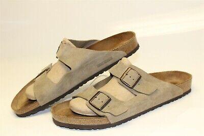 Birkenstock Mens Size 16 49 Arizona Suede Slide Sandals Germany Made Shoes Suede Mens Sandals