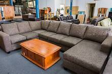 New 7 Seater Corner + Chaise Chocolate Lounge Set WAS $2600 Roselands Canterbury Area Preview