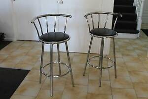 2 black and chrome bar stools (Swivel) Barrack Heights Shellharbour Area Preview