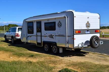 2012 Domain 22ft fully custom built Semi Off road style Caravan