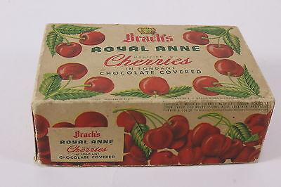 Vtg Brachs Royal Anne Cherries Empty Box In Fondant Chocolate Covered Advertiser