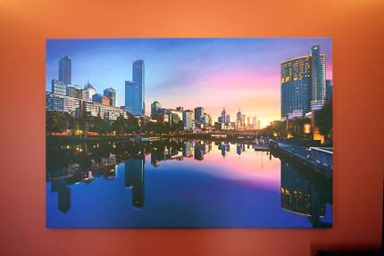 Large Melbourne Southbank Framed Canvas 130cm x 85cm