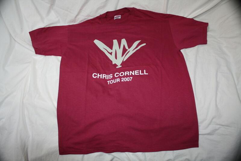 Chris Cornell XL Concert Tour T Shirt 2007