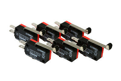 6 Pc Temco Micro Limit Switch Long Roller Lever Arm Spdt Snap Action Home Lot