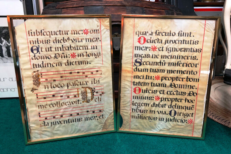 16th Century Spanish Monk Hymnal Psalter Antiphonal