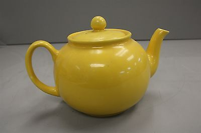 Vintage Pristine England Canary Yellow Tea Pot