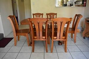 Wooden 6 seater Dining Table set Westmead Parramatta Area Preview
