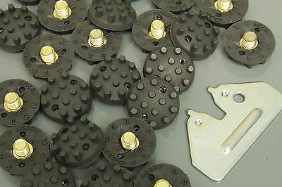 24 Golfspikes Silver Line, 6mm Gewinde + Schlüssel, 6mm screw thread + key!